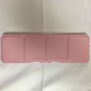 NEW Pastel Pink Watercolor Tin Case
