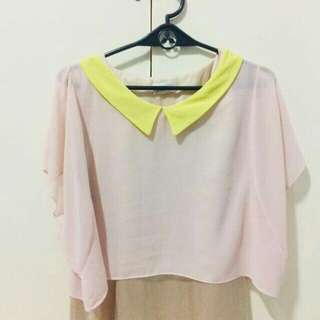 2 Korean collared blouses P199 ONLY