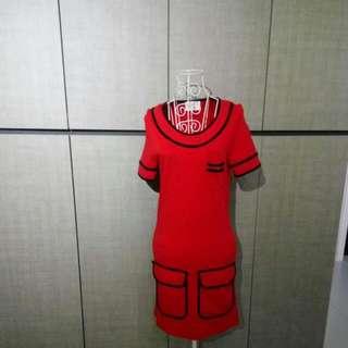 Brand Joli Red Colour Bodycon Dress