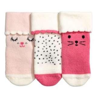 H&M Newborn Socks (3 pair) *free delivery*
