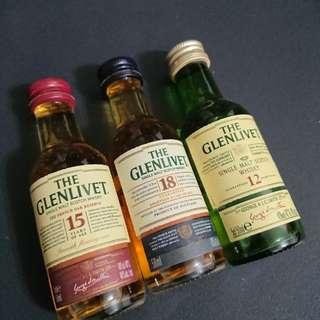 the glenlivet 12,15,18 YO (5cl)
