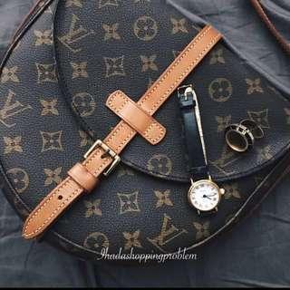 Louis Vuitton Monogram Chantilly Shoulder LV Bag Satchel 八十年代復古 中古LV手袋 月亮半圓斜背袋 vintage bag