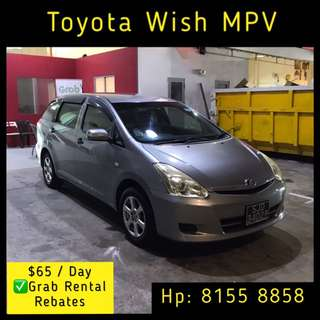 Toyota Wish 1.8A - Grab Car Rentals