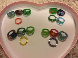 Plastic Rings Jewelry - Fashion, Lightweight, 戒指, 手飾, 文藝 (1 set 賣)