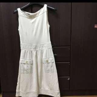 Mango Ecru Dress Medium