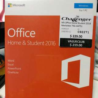 Microsoft office home & student Windows (New, Sealed)