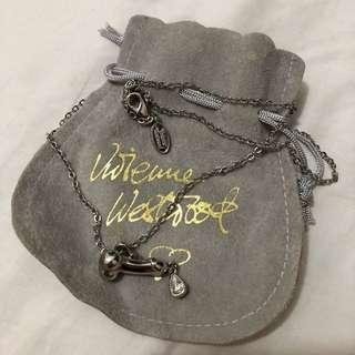 Vivienne Westwood rare unique necklace with teardrop Swarovski crystal