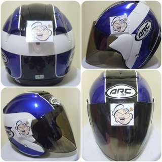 2102***ARC AR1 TIARA BLUE v TINTED VISOR Helmet For Sale 😁😁Thanks To All My Buyer Support 🐇🐇 Yamaha, Honda, Suzuki