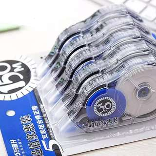 5x30m = 150m correction tape