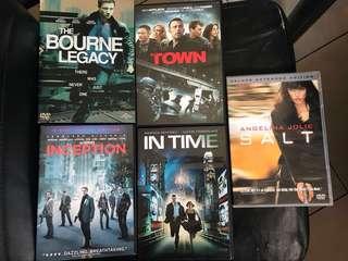 Set of Action/Suspense Movies