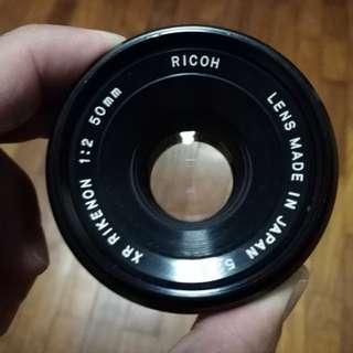 Ricoh XR Rikenon 1:2 50mm Lens