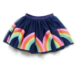 Rainbow sequined tutu skirt