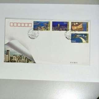 China B-FDC 1995-25 Hong Kong Scene