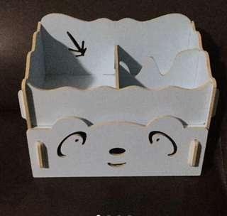 Cute wood storage stationery box