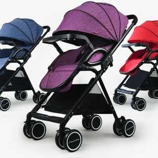 嬰兒推車輕便高景觀單手一鍵收車易折疊