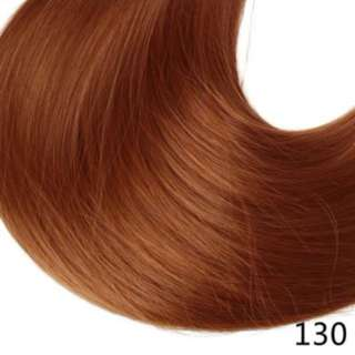 Reddish Orangy 5 Clips Straight Hair Extensions