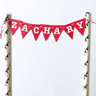 Cake customised Banner / Bunting Mini size