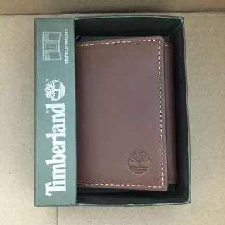 🎉罕有三摺🎉Timberland Men's Trifold Wallet Brown 啡色三摺真皮銀包