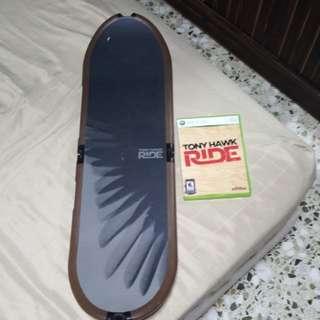 XBox 360 Tony Hawk Ride comes with Skate Board