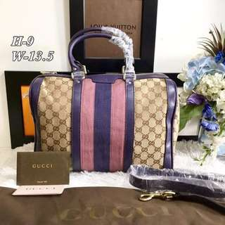 Gucci Canvas Stripes Bag