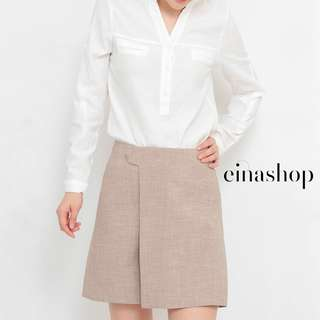 [30% OFF WITH FREE GIFT] JEZEBEL CLASSIC SKORT SKIRT PANTS IN BEIGE BY EINASHOP.COM