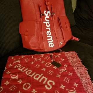 Supreme LV backpack (Red)