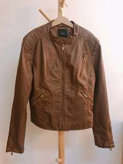 Forever21 vintage brown leather jacket
