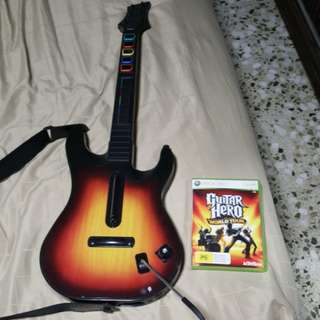 XBox 360 Guitar Hero with Guitar