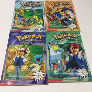 BN Pokemon The Johto Journeys 4 titles