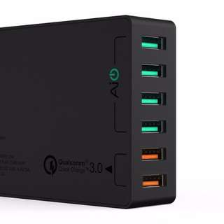 Aukey-6 port charging station with Quick Charge 3.0