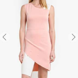 Zalora colorblock blush dress