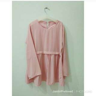 Blouse wolfis pink