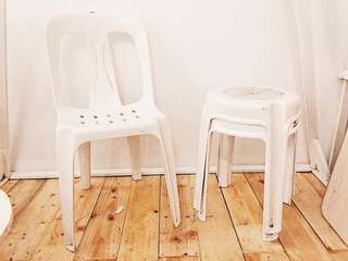 MONO BLOCK CHAIR AND STOOL CHAIR