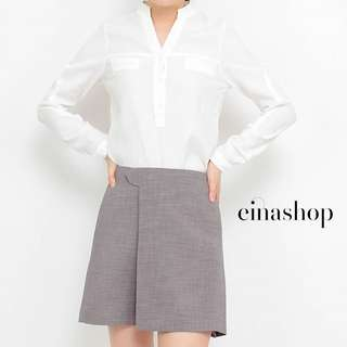 [30% OFF WITH FREE GIFT] JEZEBEL CLASSIC SKORT SKIRT PANTS IN GREY BY EINASHOP.COM