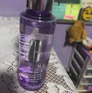 Clinique makeup remover for lids, lashes and lips
