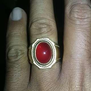 Cincin Red baron pacitan (blood stone)