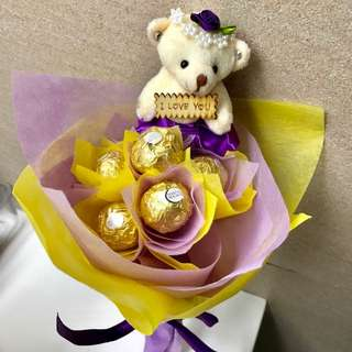 Bear Chocolate Bouquet