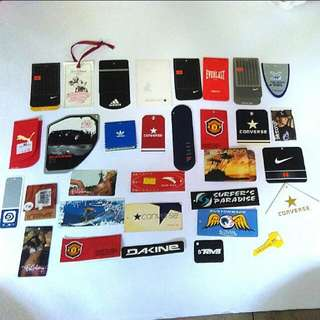 Labels from various brand