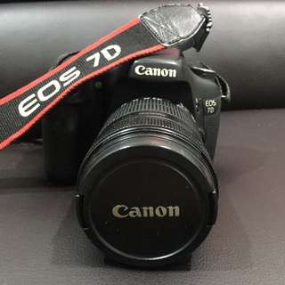 Canon EOS 7D with 18-135mm lense