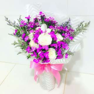 5 Pink roses Bouquet