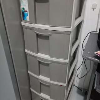 Used 5 level storage box