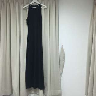 Grana Pima racerfront maxi dress
