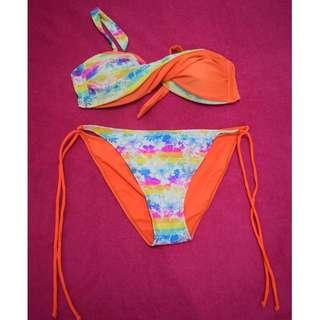 Orange Two Piece Swimwear