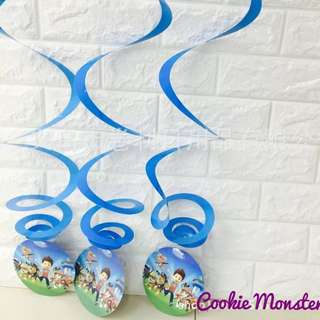 🐾 Paw Patrol party supplies - party Deco / Spiral deco