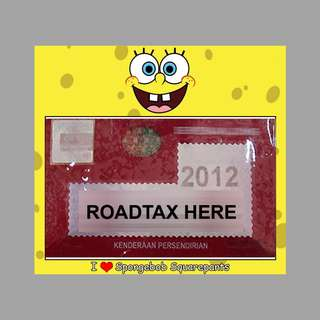 Road Tax Sticker - Spongebob Squarepants