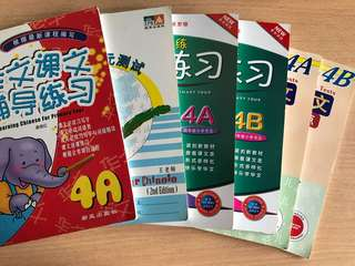 P 4A 4 B Chinese workbooks ( Bundle of six books)