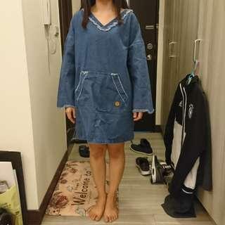 Queen shop牛仔寬鬆洋裝(9.9成新