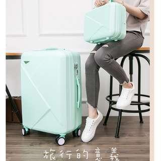 26吋 淺綠色 子母箱 行李箱