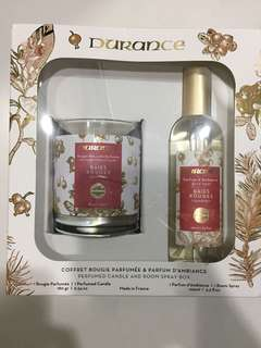 Durance perfumed candle and room spray