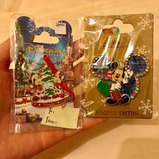 Mickey Disney le pin xmas 2個